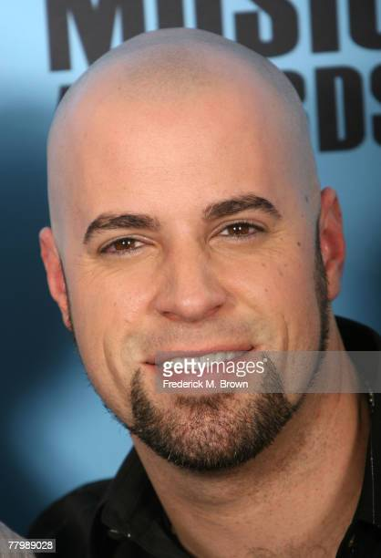 Musician Chris Daughtry poses in the press room at the 2007 American Music Awards held at the Nokia Theatre LA LIVE on November 18 2007 in Los...