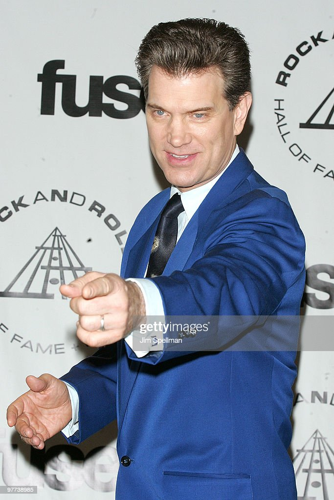 Musician Chris Isaak attends the 25th Annual Rock and Roll Hall of Fame Induction Ceremony at Waldorf=Astoria on March 15, 2010 in New York, New York.