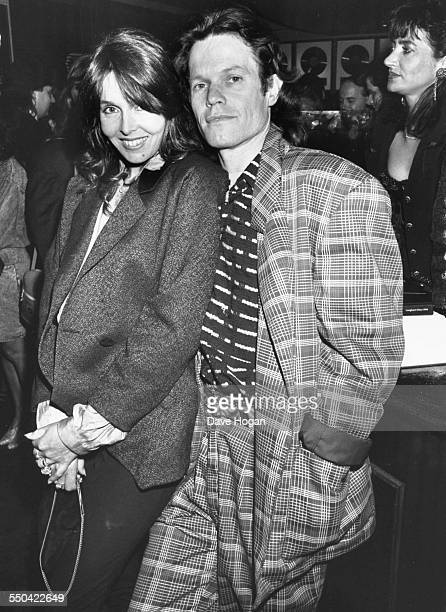 Musician Chris Jagger and his wife attending a party held by Bill Wyman at Sticky Fingers in London May 11th 1989