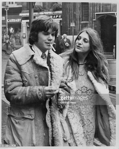 Musician Chris Jagger brother of pop singer Mick Jagger attending a court appearance with Suzy Creamtree London December 21st 1967