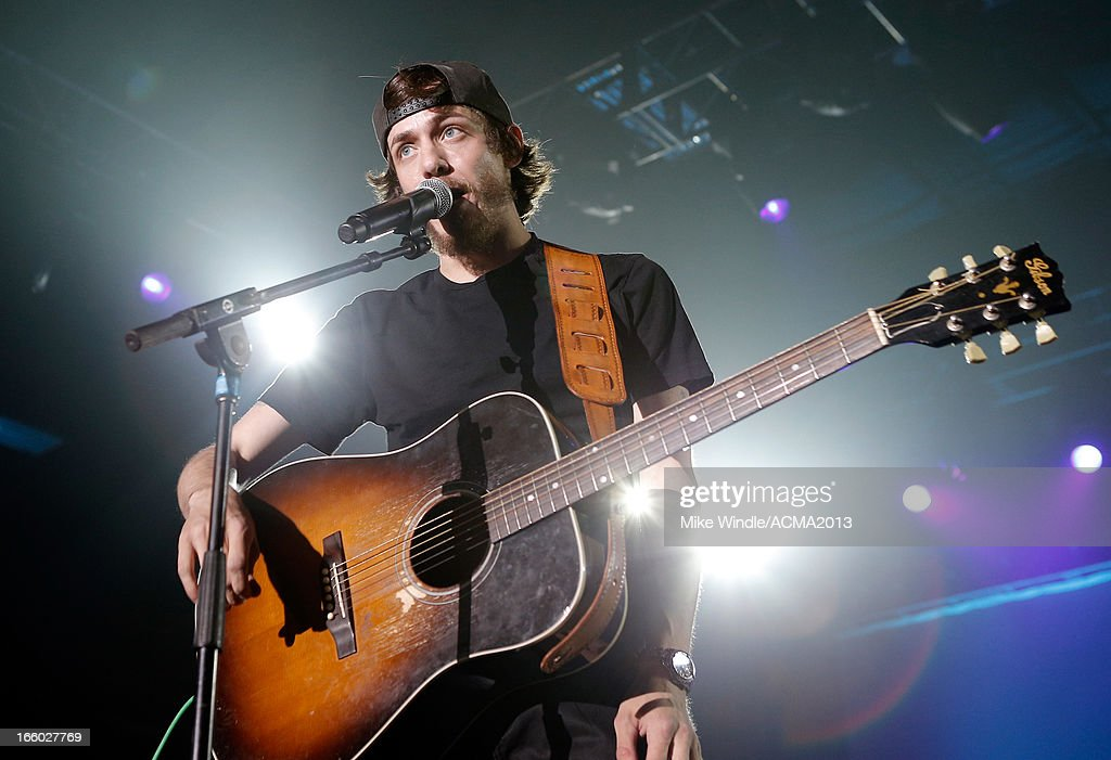 Musician Chris Janson performs onstage at the All Star Jam during the 48th Annual Academy Of Country Music Awards at the MGM Grand Hotel/Casino on April 7, 2013 in Las Vegas, Nevada.