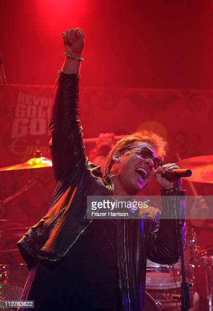 Musician Chris Jericho performs at the 3rd Annual Revolver Golden God Awards at the Club Nokia on April 20 2011 in Los Angeles California