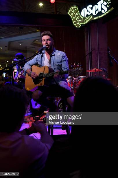 Musician Chris Lane performs during Big Loud at Losers Bar in the MGM Grand hotel on April 14 2018 in Las Vegas Nevada