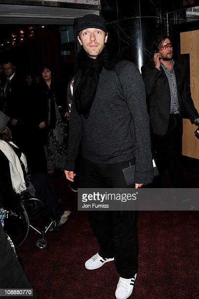 Musician Chris Martin attends the world premiere of 'Paul' at The Empire Cinema on February 7 2011 in London England