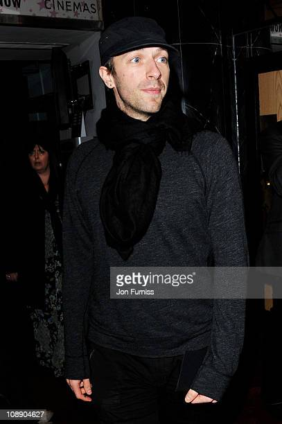 Musician Chris Martin attends the world premiere of Paul at The Empire Cinema on February 7 2011 in London England