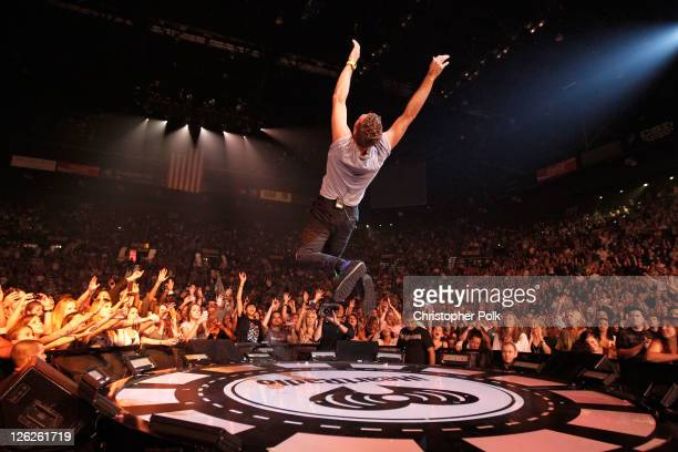 Musician Chris Martin of Coldplay performs onstage at the iHeartRadio Music Festival held at the MGM Grand Garden Arena on September 23 2011 in Las...