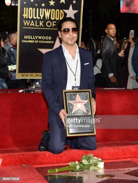 Musician Chris Perez attends the ceremony honoring his late wife, singer Selena Quintanilla, with a Star on the Hollywood Walk of Fame on November 3...
