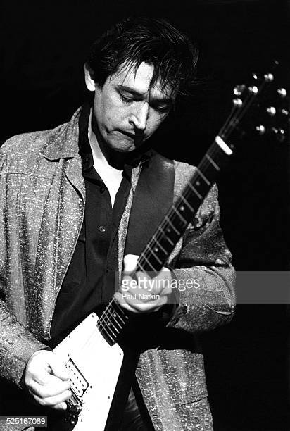 Musician Chris Spedding performs onstage, Chicago, Illinois, April 6, 1979.