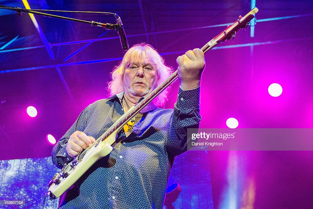 Musician Chris Squire performs on stage with Yes on August 18, 2014 in San Diego, California.