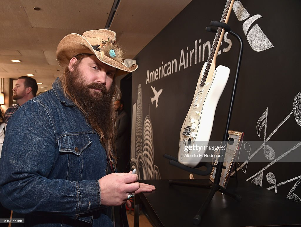 Musician Chris Stapleton attends Lucian Grainge's 2016 Artist Showcase Presented by American Airlines and Citi at The Theatre at Ace Hotel Downtown LA on February 14, 2016 in Los Angeles, California.