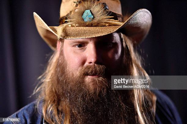 Musician Chris Stapleton attends Westwood One Presents #WWOBackstage @ 51st ACMs at MGM Grand Garden Arena on April 2 2016 in Las Vegas Nevada