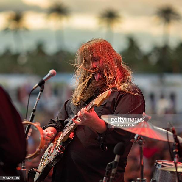 Musician Chris Stapleton performs onstage during 2016 Stagecoach California's Country Music Festival at Empire Polo Club on April 30, 2016 in Indio,...