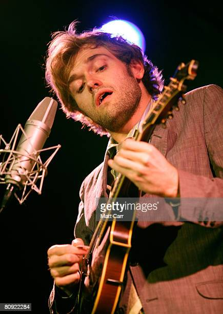 Musician Chris Thile performs during the Tribeca ASCAP Music Lounge at the 2008 Tribeca Film Festival on April 29 2008 in New York City