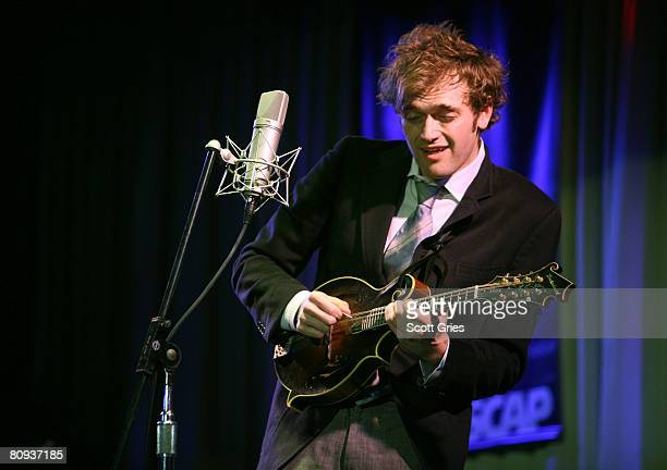 Musician Chris Thile performs during the Tribeca ASCAP Music Lounge during the 2008 Tribeca Film Festival on April 30, 2008 in New York City.