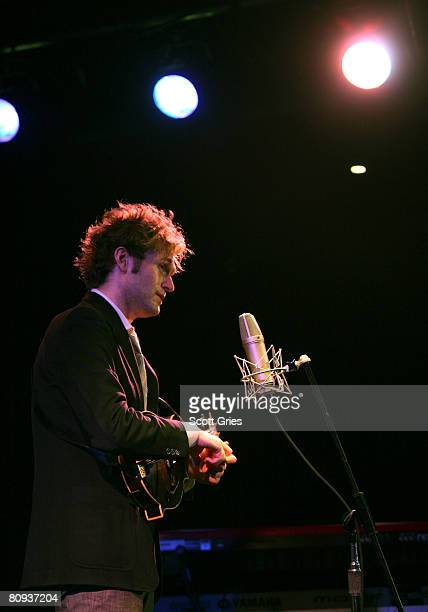 Musician Chris Thile performs during the Tribeca ASCAP Music Lounge during the 2008 Tribeca Film Festival on April 30 2008 in New York City