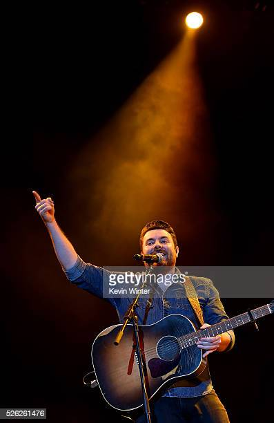 Musician Chris Young performs onstage during 2016 Stagecoach California's Country Music Festival at Empire Polo Club on April 29 2016 in Indio...
