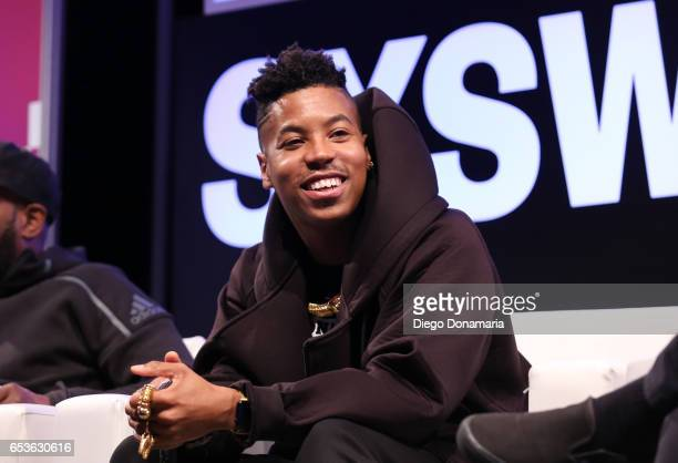 Musician Christian Scott aTunde Adjuah speaks onstage at 'The Jazz of the Music Biz' during 2017 SXSW Conference and Festivals at Austin Convention...