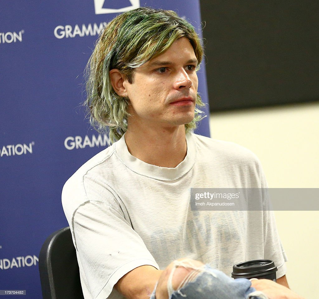 Musician Christian Zucconi of GROUPLOVE speaks onstage at the 9th Annual GRAMMY Camp at University of Southern California on July 16, 2013 in Los Angeles, California.