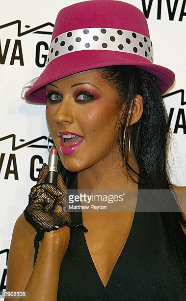 Musician Christina Aguilera attends the MAC press conference at Gotham Hall during the 2004 Olympus Fashion Week February 11 2004 in New York The MAC...