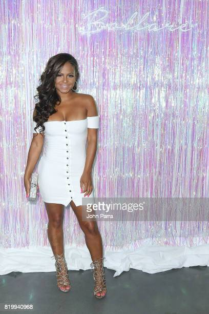 Musician Christina Milian attends Bollare x The Cobrasnake Miami Swim Week Opening Party At The Miami Beach Edition Basement on July 20 2017 in Miami...