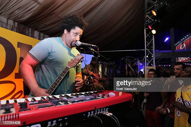 Musician Christopher Dowd of Fishbone performs onstage during the Musical Performance during the 2010 Los Angeles Film Festival at ZonePerfect...