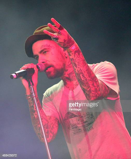 Musician Christopher Mansfield of the band Fences performs with Macklemore & Ryan Lewis at the Twin Peaks Stage during day 2 of the 2014 Outside...