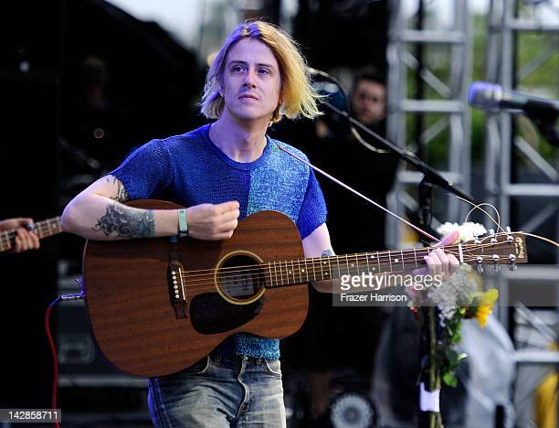 Musician Christopher Owens of the band Girls performs during Day 1 of the 2012 Coachella Valley Music Arts Festival held at the Empire Polo Club on...