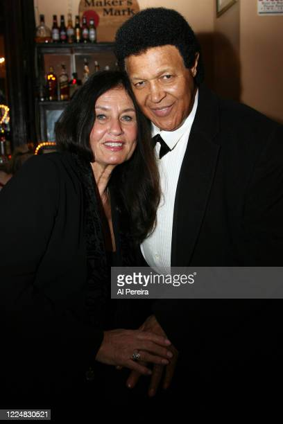 Musician Chubby Checker appears in a photo with his wife, Catharina Lodders, when he performs with a full band at The Cutting Room on March 6 in New...
