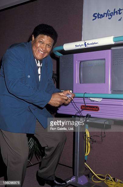 Musician Chubby Checker attends Starlight Foundation of New York 10 Years of Magic Gala on March 13 1995 at the Marriott Marquis Hotel in New York...