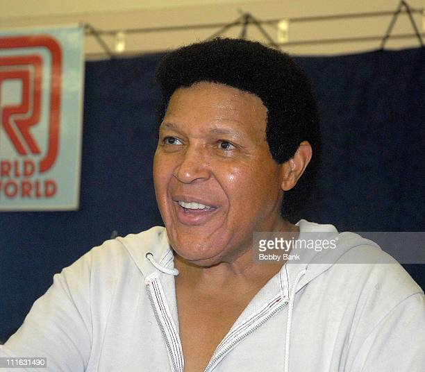 Musician Chubby Checker visits JR Music and Computer World August 19 2008 in New York City