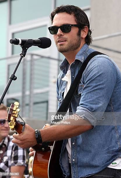 Musician Chuck Wicks performs at the Los Angeles Chapter Grammy Block Party on July 31 2010 in Los Angeles California