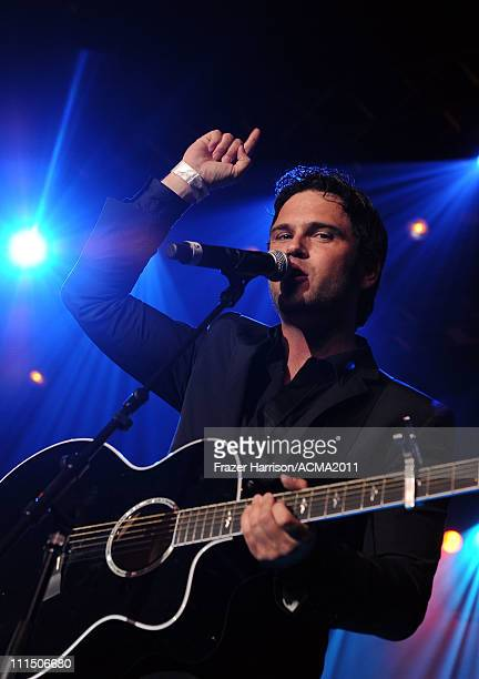 Musician Chuck Wicks performs onstage during the Academy of Country Music Awards AllStar Jam at the MGM Grand Hotel/Casino on April 3 2011 in Las...