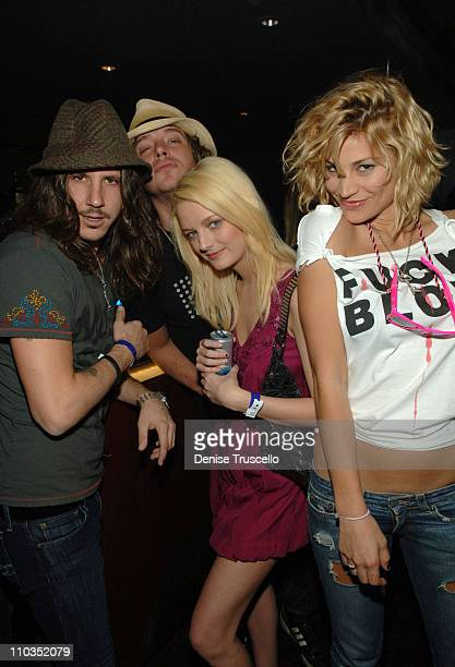 Musician Cisco Adler designer/model Lydia Hearst Chebon and model Lisa D'Amato attend the Maroon 5 concert in the VIP Sky Lounge at The Pearl at The...