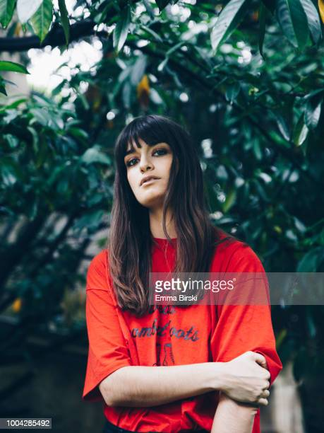 Musician Clara Luciani is photographed for Self Assignment on June 2018 in Paris France