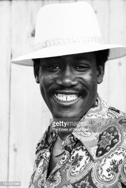 Musician Clarence Clemons poses for a portrait in August 1973 along the Jersey Shore New Jersey