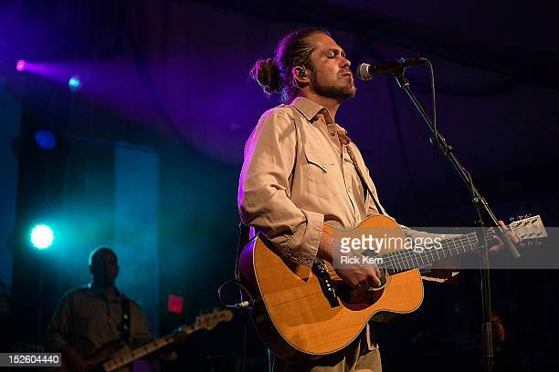 Musician Clarence Greenwood aka Citizen Cope performs in concert at Stubb's BarBQ on September 22 2012 in Austin Texas