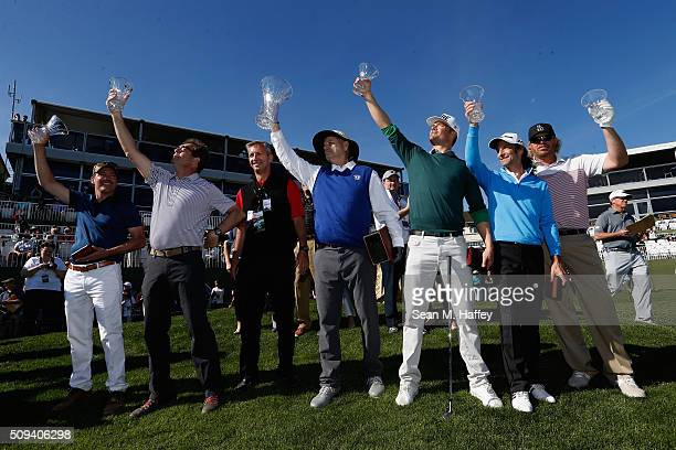 Musician Clay Walker Musician Huey Lewis Comedian Bill Murray Actor Josh Duhamel Musician Kenny G and Musician Toby Keith hold up trophies at the...