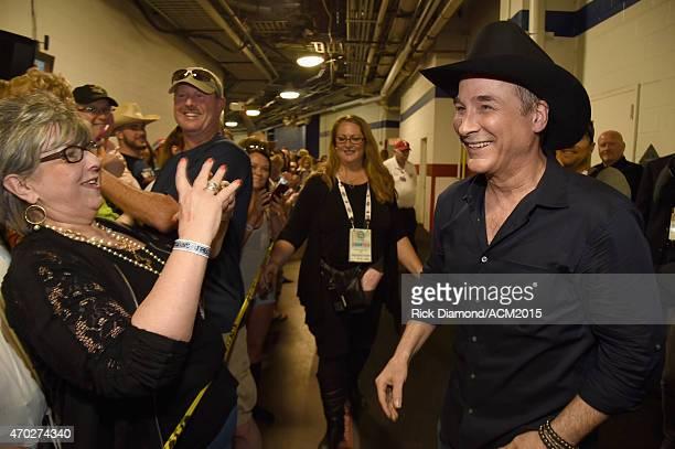 Musician Clint Black attends ACM Presents Superstar Duets at Globe Life Park in Arlington on April 18 2015 in Arlington Texas