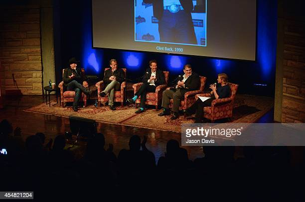 Musician Clint BlackProducer RA Clark Producer Barry Adelman ACM's Bob Romeo and ACM's Lisa Lee speak during the Fifty Years Of The ACM Awards Panel...