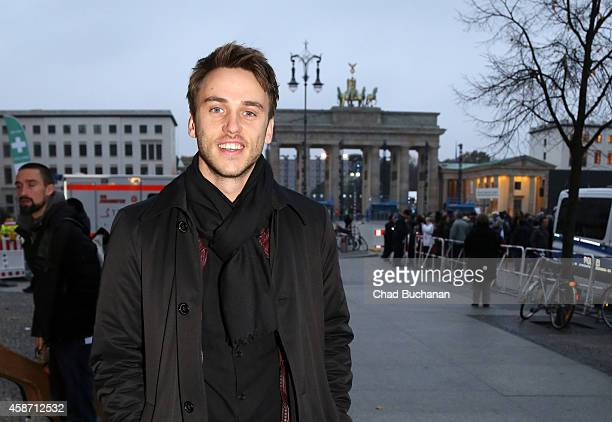 Musician Clueso sighted at the Brandenburg Gate on November 9 2014 in Berlin Germany
