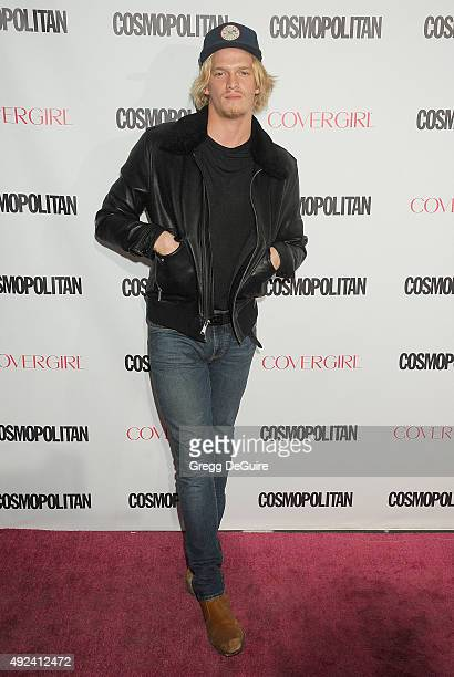 Musician Cody Simpson arrives at Cosmopolitan Magazine's 50th Birthday Celebration at Ysabel on October 12 2015 in West Hollywood California
