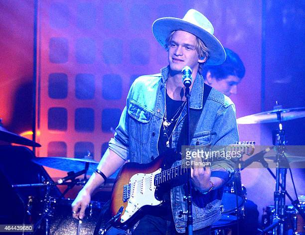 Musician Cody Simpson performs during 'We Day California' at SAP Center on February 25 2015 in San Jose California