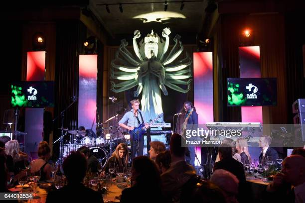 Musician Cody Simpson performs onstage during the 14th Annual Global Green Pre Oscar Party at TAO Hollywood on February 22 2017 in Los Angeles...