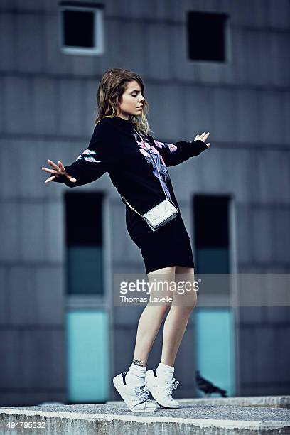 Musician Coeur de Pirate is photographed for Self Assignment on July 17 2015 in Paris France