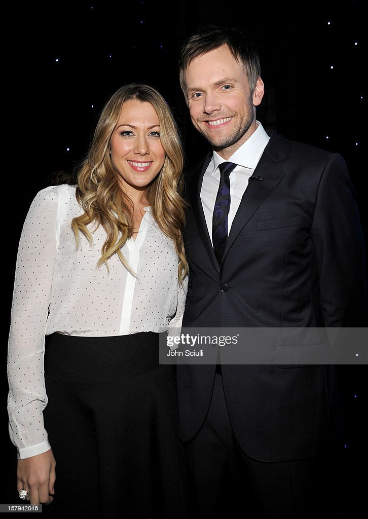 Musician Colbie Caillat and host Joel McHale attend the American Giving Awards presented by Chase held at the Pasadena Civic Auditorium on December 7, 2012 in Pasadena, California.