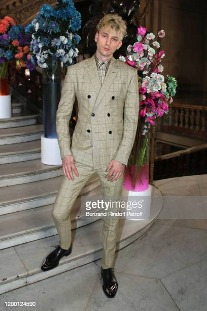 Musician Colson Baker aka Machine Gun Kelly attend the Berluti Menswear Fall/Winter 20202021 show as part of Paris Fashion Week at Opera Garnier on...