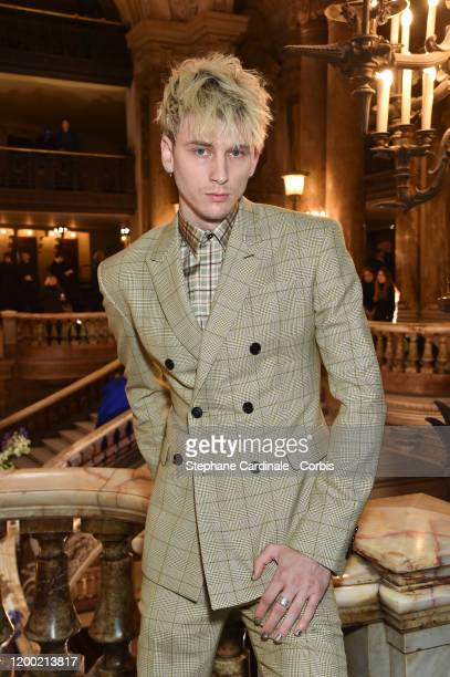 Musician Colson Baker aka Machine Gun Kelly attends the Berluti Menswear Fall/Winter 20202021 show as part of Paris Fashion Week at Opera Garnier on...