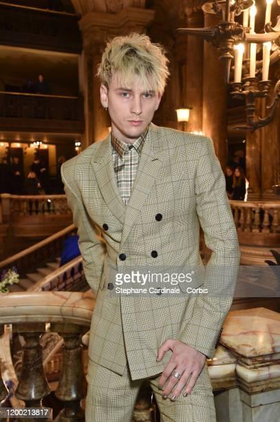 Musician Colson Baker aka Machine Gun Kelly attends the Berluti Menswear Fall/Winter 2020-2021 show as part of Paris Fashion Week at Opera Garnier on...