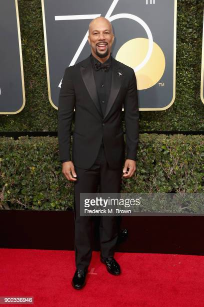 Musician Common attends The 75th Annual Golden Globe Awards at The Beverly Hilton Hotel on January 7 2018 in Beverly Hills California