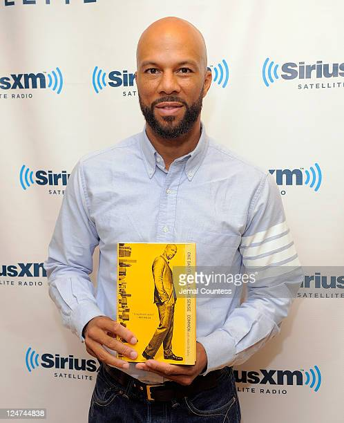 Musician Common poses for a photo as he promotes his new book 'One Day It Will All Make Sense' during a visit to SiriusXM Studio on September 12 2011...